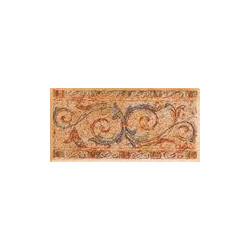 Dlažba/bordura Rako Titus GDTCB002 oranžová, 15x7,4cm